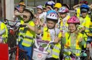 2015-09-17 - Mrówki, Motylki - Zdajemy na przedszkolną Kartę Rowerową