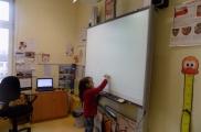 2017-03-02 - Sowy - Lekcja przy  tablicy interaktywnej oraz spotkanie z mamą Zosi