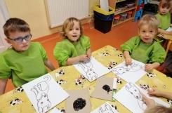 2020-01-10 - Kotki - Dalmatyńczyk - malujemy wacikami