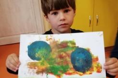 2020-08-03 - Kotki - Zajęcia z malarstwa - piłka