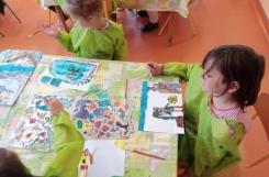 2020-08-03 - Motylki, Mrówki - Sztuka - malarstwo - piłeczka sportowa