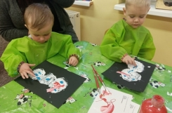 2021-01-19 - Żabki - Malujemy bałwanki z panią Anitą