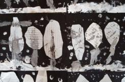 2021-01-27 - Motylki - Malarstwo szpachelką - papier z fakturą