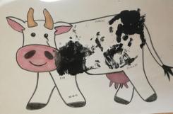 2021-05-06 - Biedronki - Stemplujemy dłonią - krowa