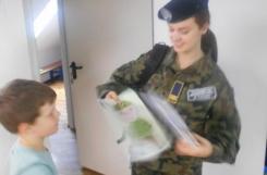 2021-07-09 - Sowy - Musztra z kadetem Technikum Wojskowego