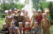 2015-07-15 - Żabki - Pokaz mody indiańskiej przed wigwamem